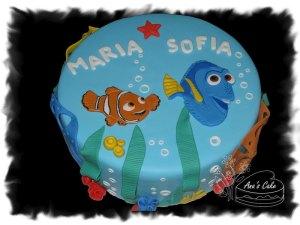 Nemo y Dori Torta decorada con Fondant